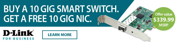 Buy a 10 Gig Smart Switch. Get a Free 10 Gig NIC.